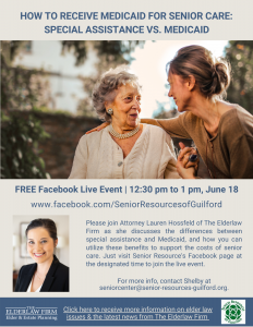 How To Receive Medicaid for Senior Care @ Free Facebook Live Event
