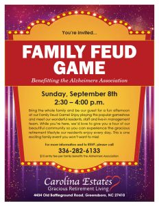 Family Feud Game @ Carolina Estates