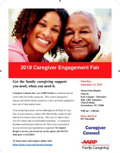 2019 Caregiver Engagement Fair @ Mount Zion Baptist Church