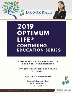 Ethical Issues of Caregiving @ Brookdale Lawndale