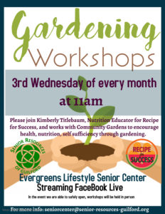 Gardening Workshop @ Senior Resources Facebook