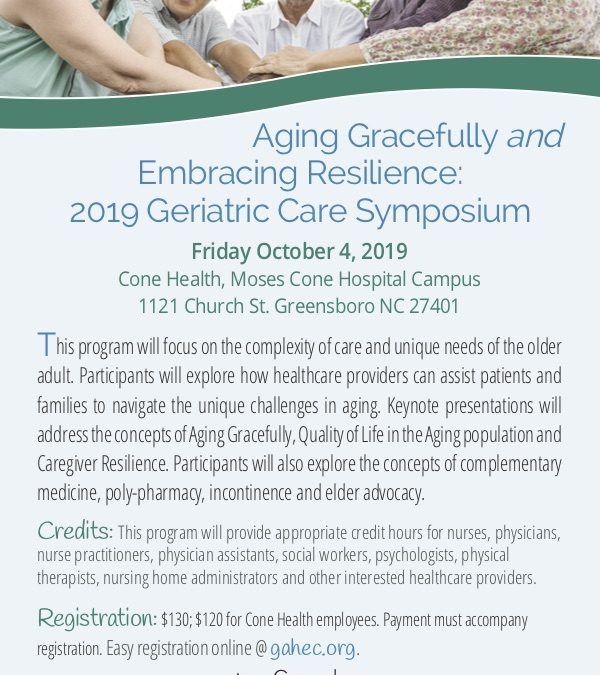 2019 Geriatric Care Symposium