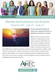 Women and Substance Use Disorder @ Virtual