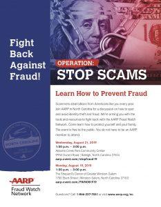 AARP Learn How to Prevent Fraud @ The Shepherd Center Winston Salem
