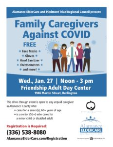 Family Caregivers Against COVID-FREE Masks! @ Friendship Adult Day Center