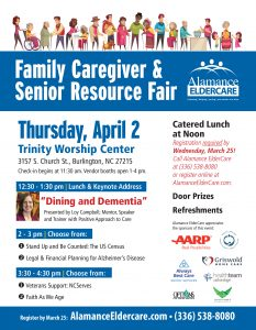 CANCELLED: Family Caregiver and Senior Resource Fair @ Trinity Worship Center