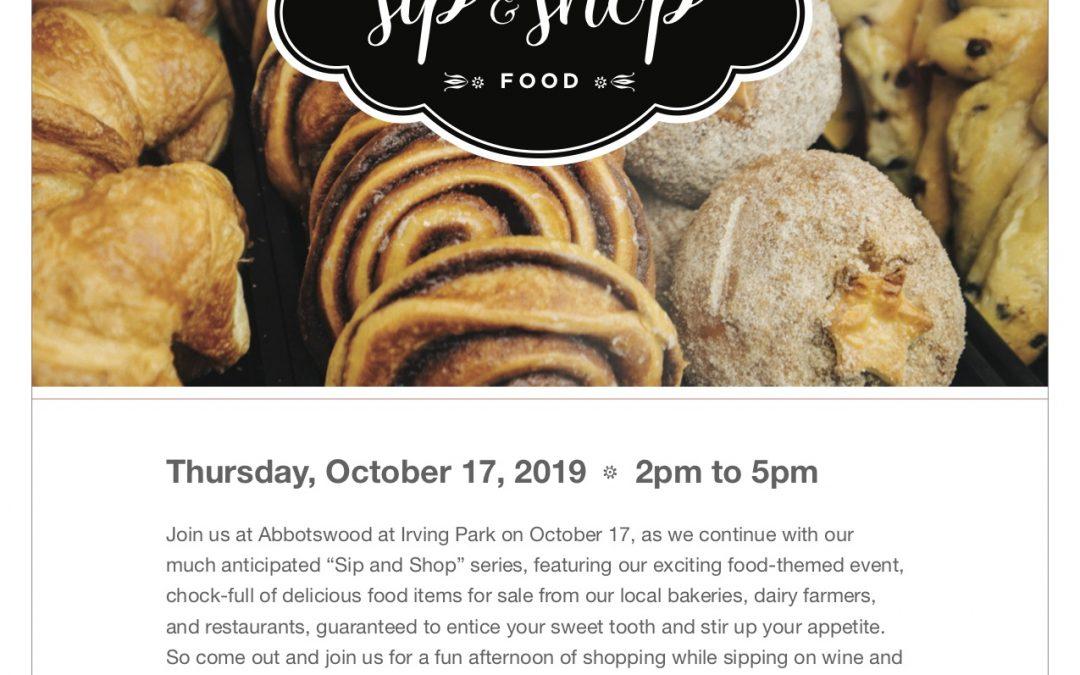 Sip & Shop Food theme!