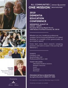 2019 Dementia Education Conference @ Friendship Missionary Baptist Church