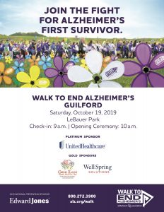 Guilford County Walk to End Alzheimers @ LeBauer Park
