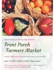 Front Porch Farmers Market at Abbotswood @ Abbotswood at Irving Park