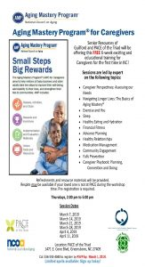 Aging Mastery Program for Caregivers - Week 1 @ PACE of the Triad