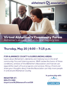Virtual Alzheimer's Community Forum @ Virtual