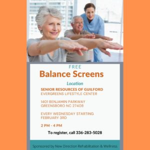 Balance Screens by New Direction Rehabilitation & Wellness