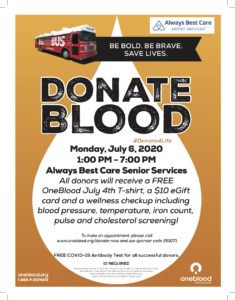 Blood Drive @ Always Best Care Senior Services