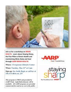 AARP Brain Health @ Evergreens Lifestyle Center