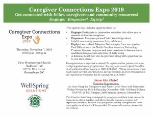 Well Spring Solutions Caregiver Connections Expo @ First Presbyterian Church