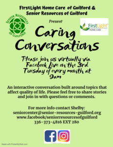 Caring Conversations- Health & Wellness @ Live on Facebook