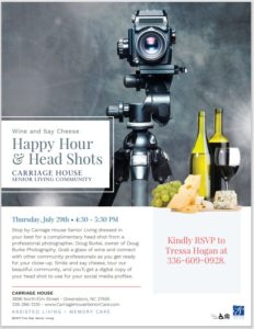 Happy Hour and Headshots at Carriage House! @ Carriage House