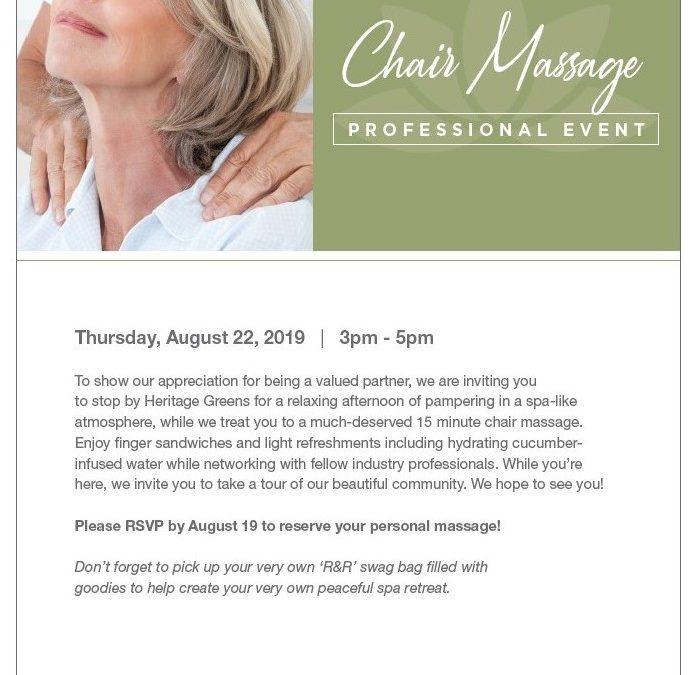 Chair Massage Professional Event