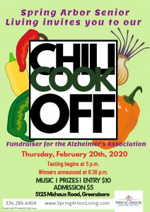 Fundraiser- Chili Cook Off @ Spring Arbor Senior Living