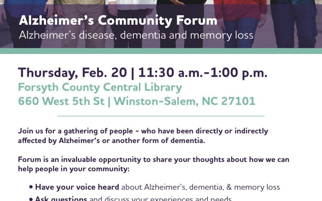 Alzheimer's Community Forum