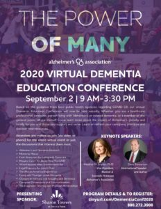 2020 Virtual Dementia Education Conference @ Virtually