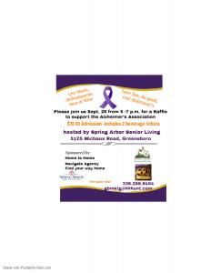 Raffle for Alzheimer's Association @ Spring Arbor Senior Living