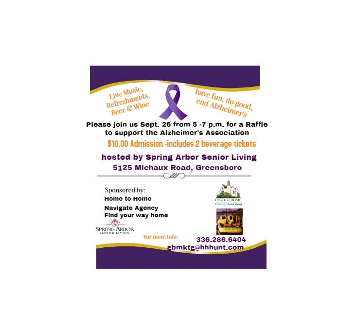 Raffle for Alzheimer's Association