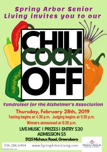Chili Cook Off at Spring Arbor @ Spring Arbor