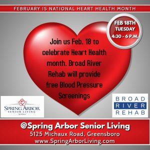 Free Blood Pressure Screening @ Spring Arbor Senior Living