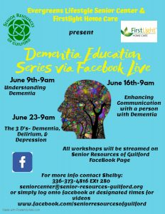 Dementia Education Series via Facebook Live @ Facebook Live