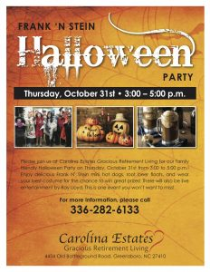 Frank-n-Stein Halloween Party @ Carolina Estates