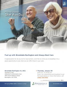 Fuel up with Brookdale Burlington and Always Best Care @ Brookdal Burlington