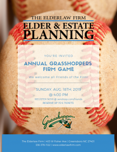 Grasshopper Friends of the Firm Event @ Greensboro Grasshoppers