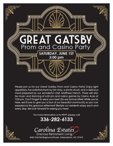 Great Gatsby Proam and Casino Party @ Carolina Estates