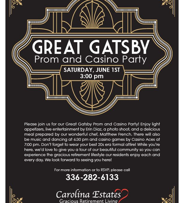 Great Gatsby Proam and Casino Party