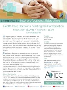 Health Care Decisions, Starting the Conversation @ virtual