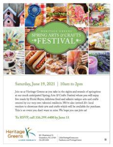 Heritage Greens Spring Arts & Crafts Festival @ Heritage Greens