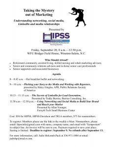 HIPSS Marketing Symposium @ WFU Bridger Field House