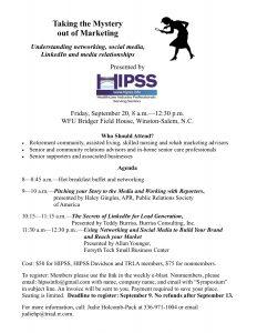 HIPSS Marketing Symposium @ WFU Bridger Field House
