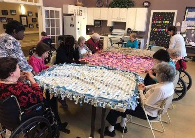 Helping Hands Committee No-Sew Blanket activity