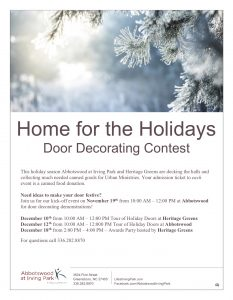 Tour of Holiday Doors @ Abbotswood at Irving Park