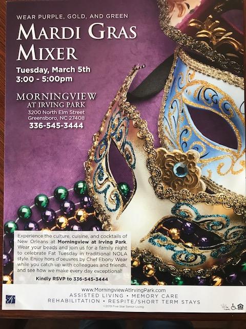Mardi Gras Mixer at Morningview