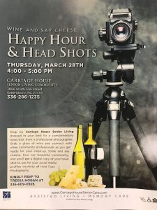 Happy Hour and Head Shots at Carriage House @ Carriage House Senior Living