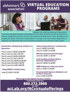 Alzheimer's Virtual Education Programs