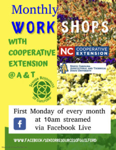 Monthly Workshops @ Facebook Live