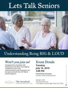 Let's Talk Seniors @ The Stratford