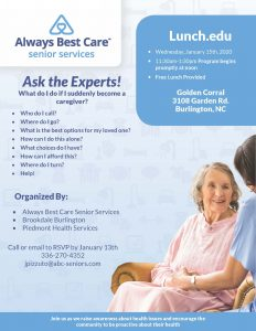 Ask the Experts Lunch & Learn @ Golden Corral