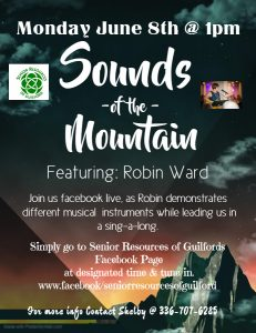 Sound of the Mountain @ Senior Resoures of Guilford Facebook Page
