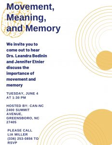 Movement, Meaning and Memory @ CAN-NC
